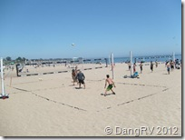Santa Cruz beach volleyball