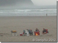 Others enjoying beach campfires