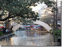 River Walk cafes, bridge, shops
