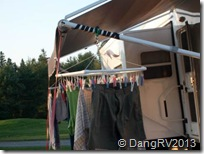 Another homemade clothesline