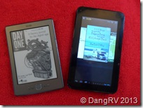 Kindle and tablet
