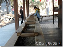 Panning for gold at Natural Bridge Caverns