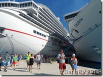 Carnival Triumph and Breeze