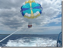 Bernie and Katrina parasailing