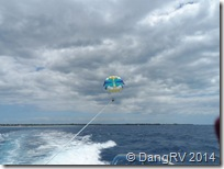 Flying high parasailing