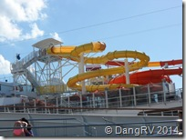 Carnival Breeze waterslide