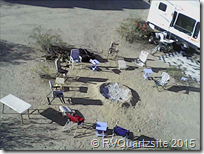 Aerial view of campsite on BLM