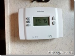 New digital thermostat in RV