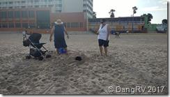 Beach burying