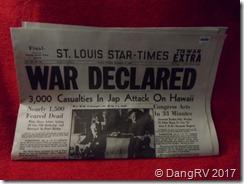 Dec 8th 1941 Newspaper copy