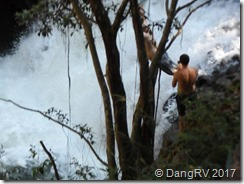 Jumping off a waterfall Maui, HI